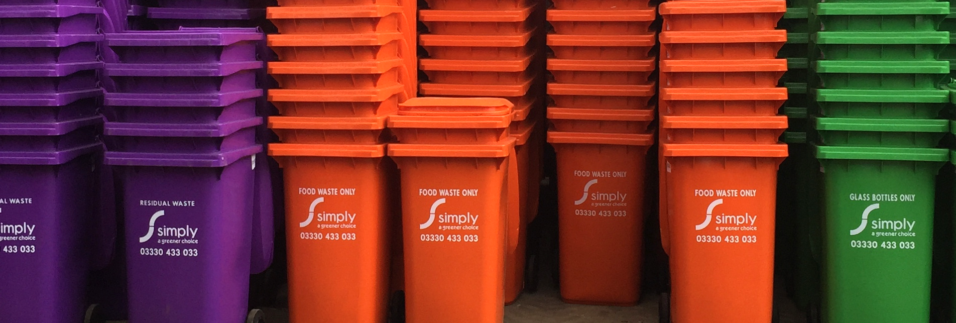 Stack of Colour Coded Bins
